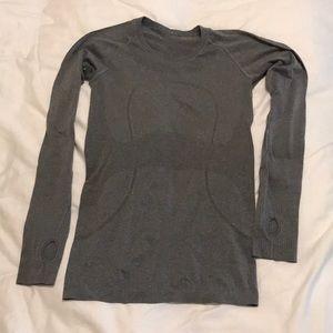 Swifty Speed Lululemon Gray long sleeve top